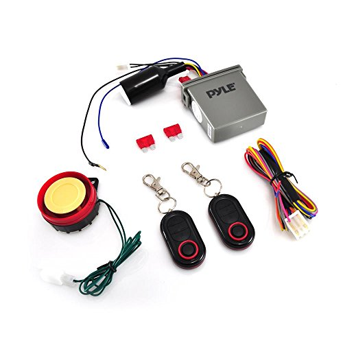 Pyle Watch Dog Motorcycle Bike Vehicle Alarm Anti Theft Security System Lock with Easy Arming/Disarming, Remote Auto Start, ECU Transmitter, Anti-Hijack Engine Shut Down, High Power Speaker – PLMCWD25