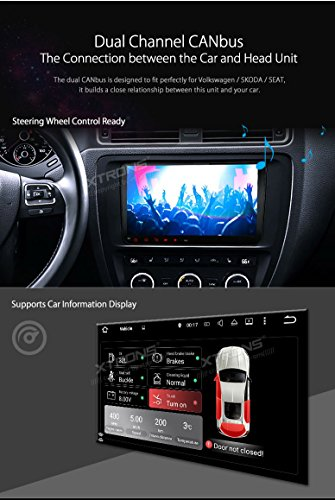 XTRONS 9 inch Android 5.1 Capacitive Touch Screen Car Stereo Radio Player GPS OBD Built-in DAB+ Tuner Tire Pressure Monitoring for VW Golf 5 6 Polo Passat Tiguan Jetta Reversing Camera Included