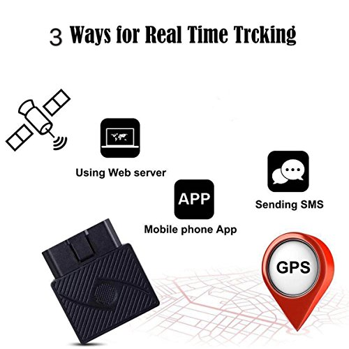 Mini OBD GPS Tracker, DMDG Real Time Locator GSM/GPRS Vehicle Tracker with Free App's Contracts for Tracking Vehicles/No Monthly Fee/Plug and Play