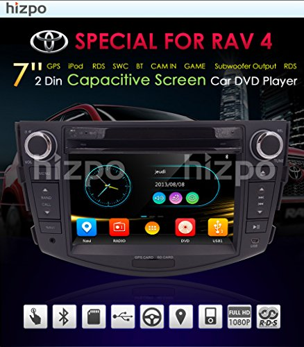 In Dash Car DVD Player GPS Navigation Radio BT Stereo For Toyota RAV4 2006-2012 Reverse Camera