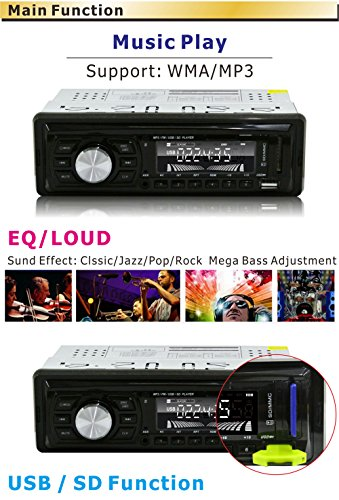 Ezonetronics Car FM and MP3 Stereo Radio Receiver Aux with USB Port and SD Card Slot LC044