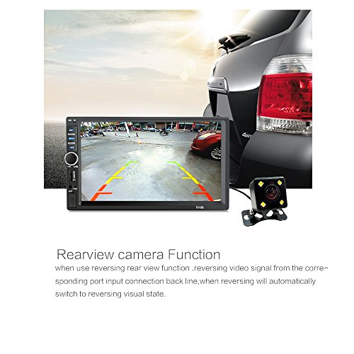 "2 Din General Car Models 7"" inch LCD Touch Screen Car Radio Player Bluetooth Car Audio Support Rear View Camera (NO DVD)"